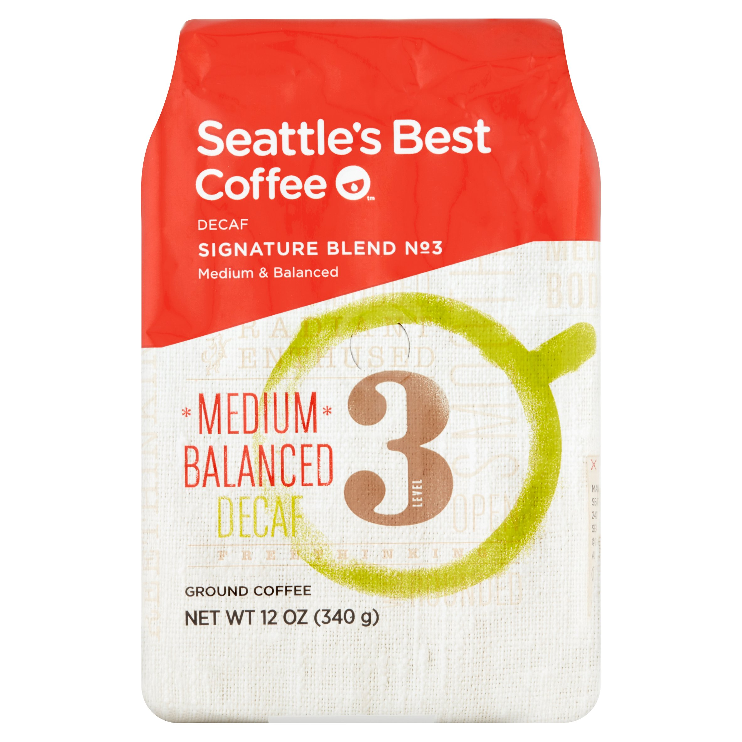 Seattle's Best Coffee Signature Blend No 3 Decaf Ground Coffee 12oz