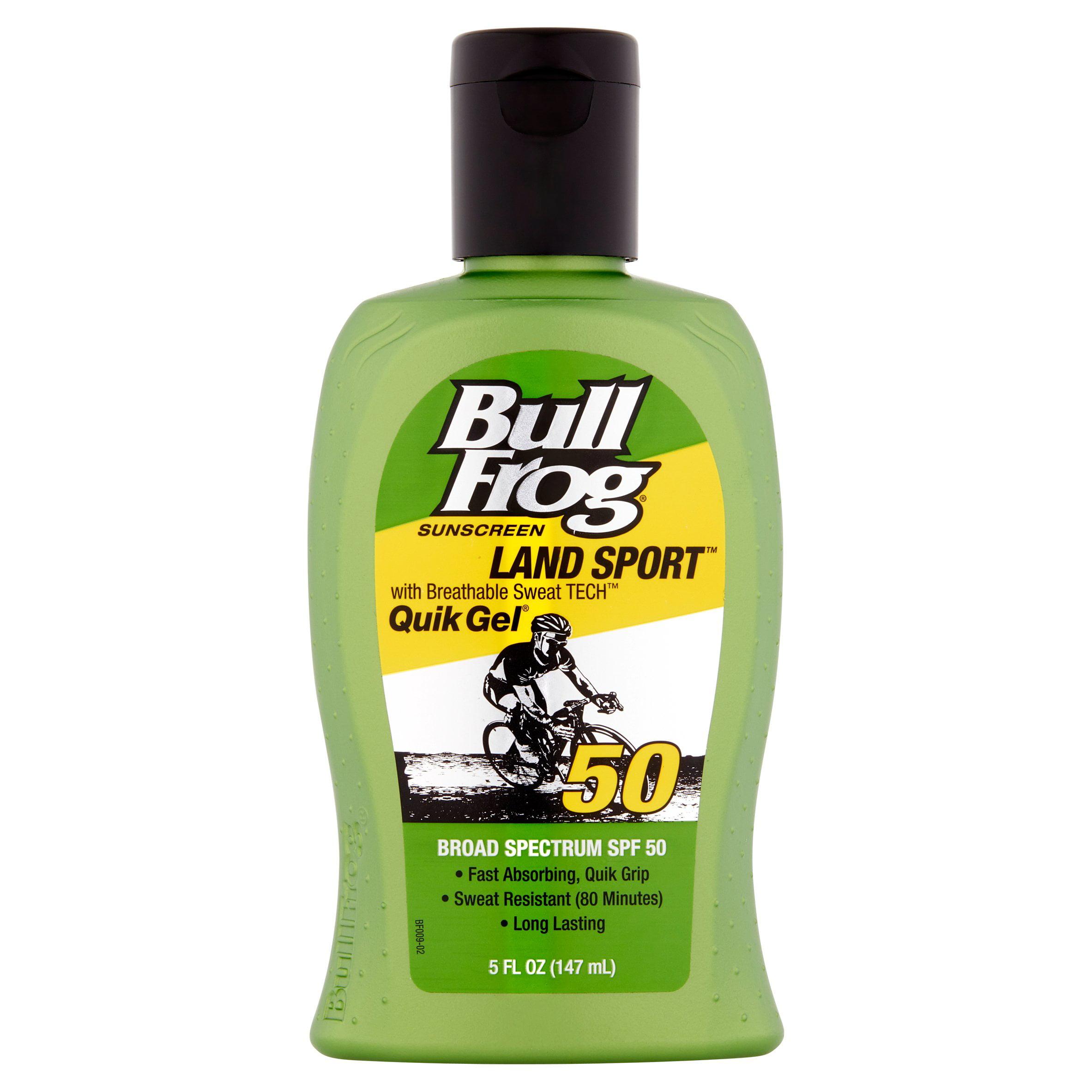 Bull Frog Land Sport Quik Gel Sunscreen Broad Spectrum, SPF 50, 5 fl oz