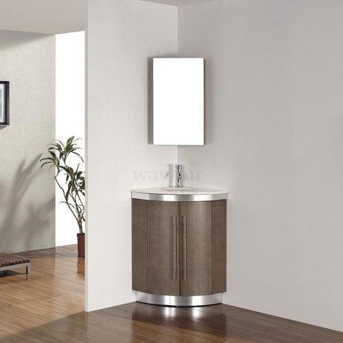 Bauhaus Bath Diara 31'' Single Corner Bathroom Vanity Set...