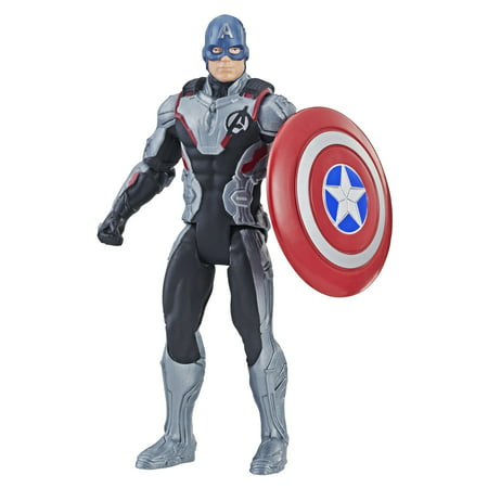Marvel Avengers: Endgame Team Suit Captain America 6-Inch-Scale (Guardians Of The Galaxy Captain America Shield)