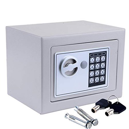 Ktaxon Digital Electronic Safe Security Lock Box Wall Home Office Hotel for Jewelry Cash, Gray
