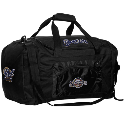 Milwaukee Brewers Roadblock Duffle Bag - Black - No Size