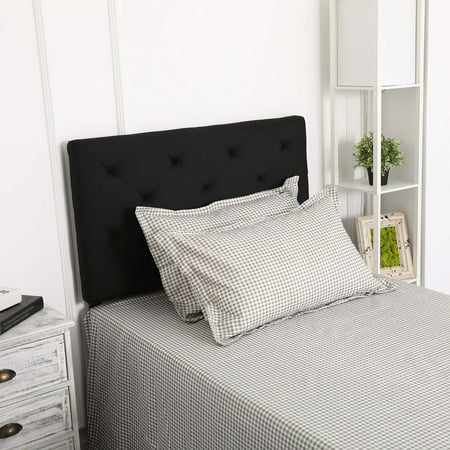Upholstered Headboard Twin Size Fabric with 4 Adjustable Positions - Walmart.com