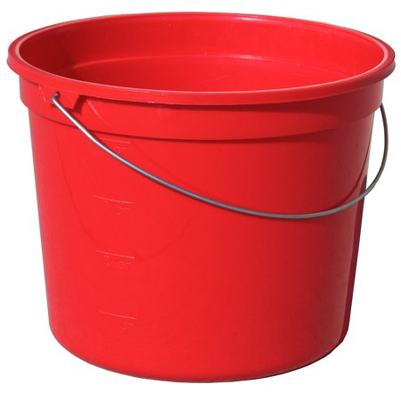 Encore  05160-201048 5 Quart Red Plastic Pail With Handle