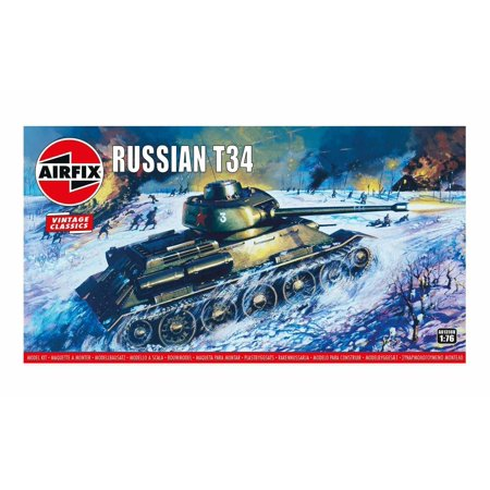 Airfix 01316V Soviet T-34 Tank 1/76 Scale Plastic Model Kit
