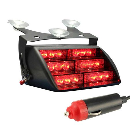 Red LED Emergency Flash Light Dash Warning