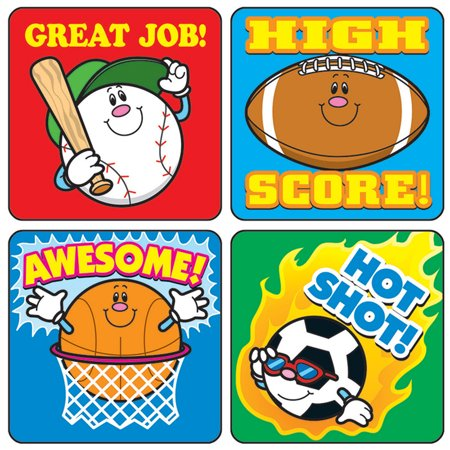 STICKERS SPORTS 120/PK ACID & LIGNIN FREE](Sports Stickers)