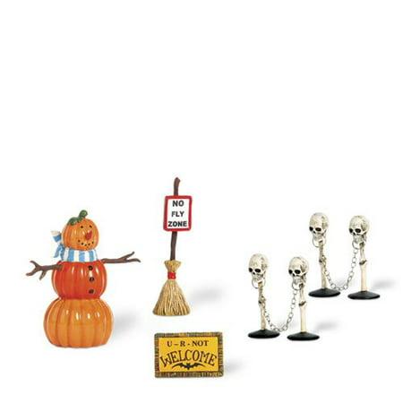 Dept 56 Halloween Village Set (Department 56 Snow Village Halloween 800026 Halloween Decorating)
