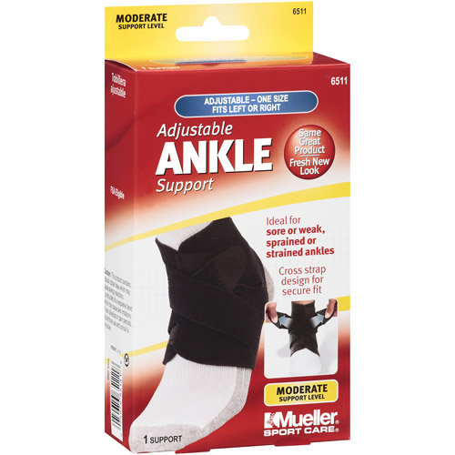 Mueller Sport Care Adjustable Ankle Support, One Size