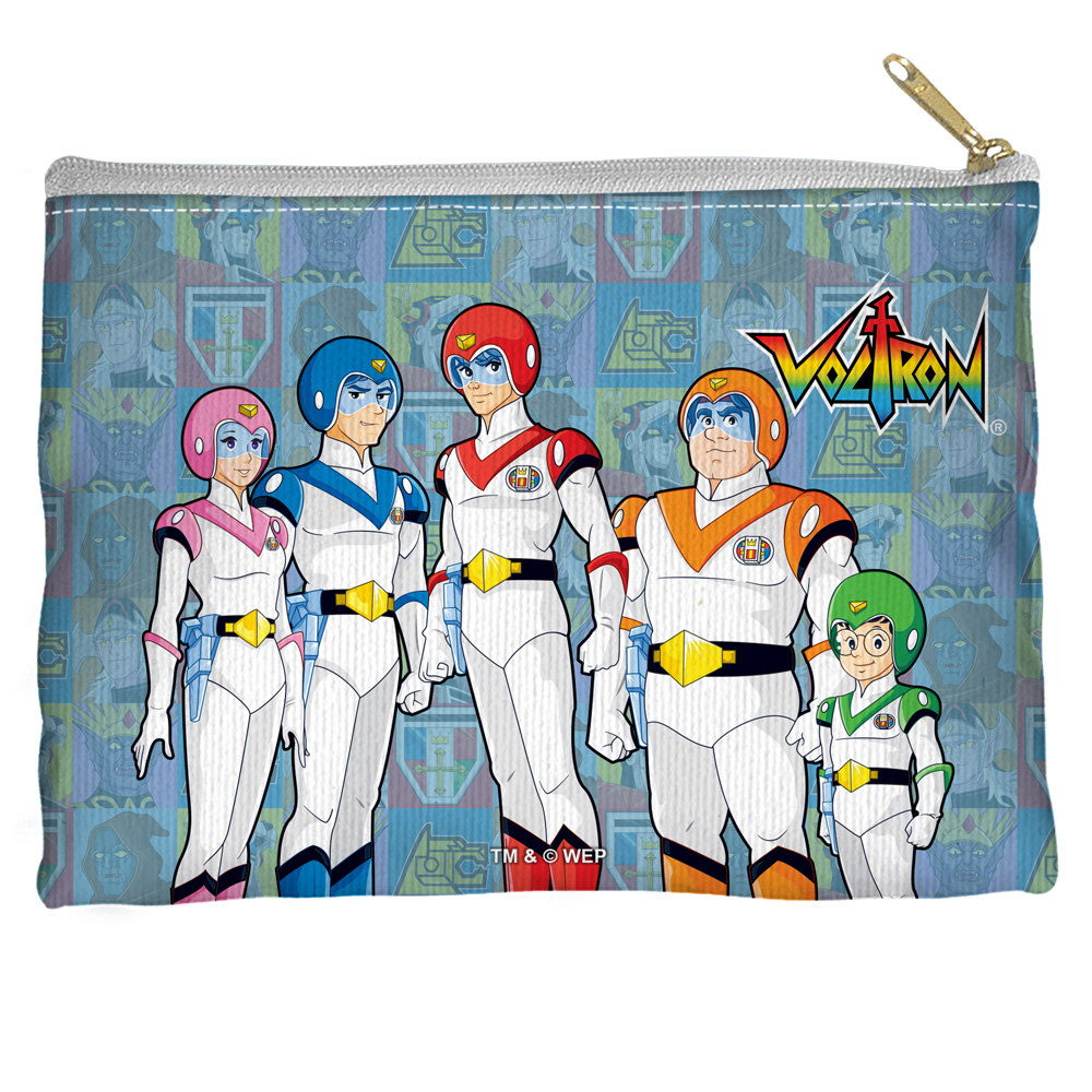 Voltron Team Accessory Pouch White 12.5X8.5