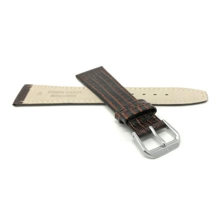20mm Bracelet de montre en cuir véritable, fin, motif lézard - image 3 de 7
