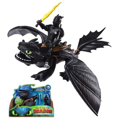 Hiccup & Toothless The Hidden World Dragon & Figure How to Train Your Dragon - Toothless And Hiccup