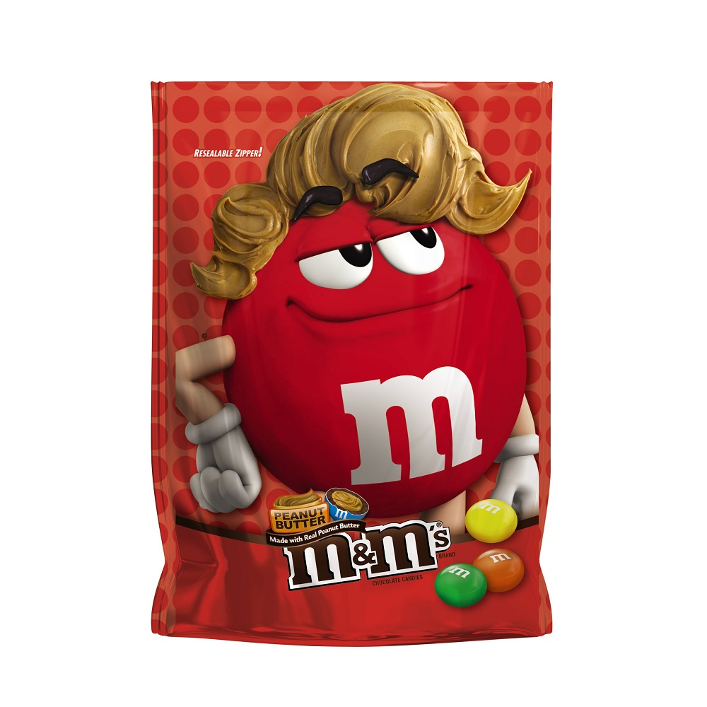 M&M'S Peanut Butter Chocolate Candy Bag, 8 oz