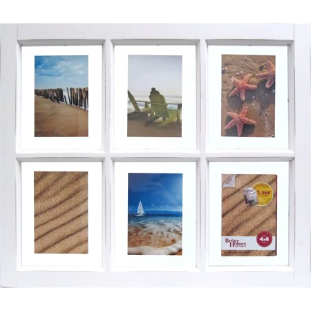 Better Homes and Gardens 6-Opening Windowpane Frame, White - Walmart.com