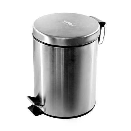 Moustache Wastebasket Stainless Steel Step Trash Can, 5L ,20 x 27 cm - image 7 of 7
