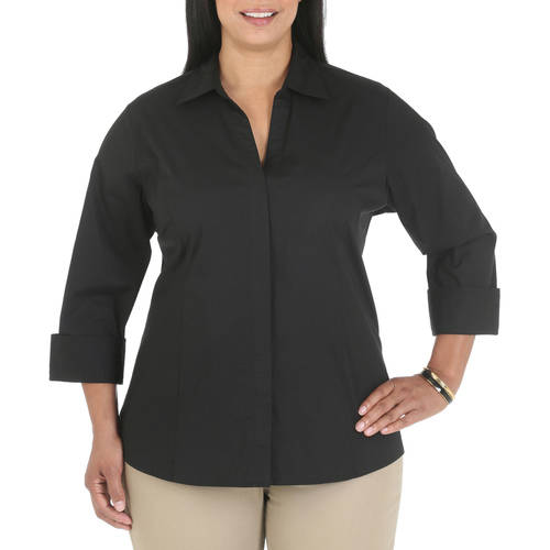 Riders by Lee Women's Plus Classic Career Shirt