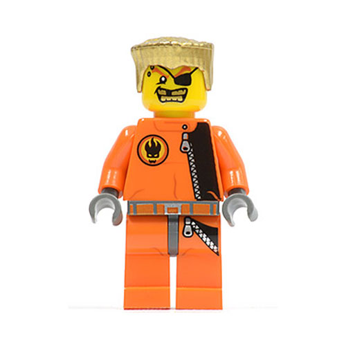 LEGO Minifigure - Agents - GOLD TOOTH