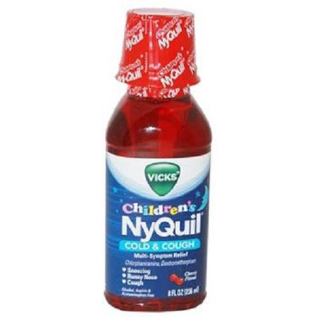 Childrens Cough - Product Of Vicks, Nyquil Childrens Cold & Cough Cherry , Count 1 - Cough Syrup/ Cold Liquid / Grab Varieties & Flavors