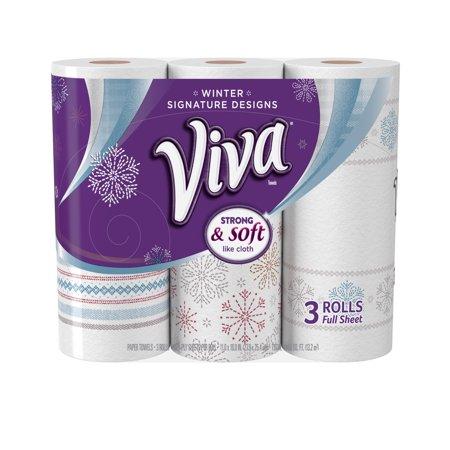 Viva Designs Paper Towels  Print  3 Big Rolls