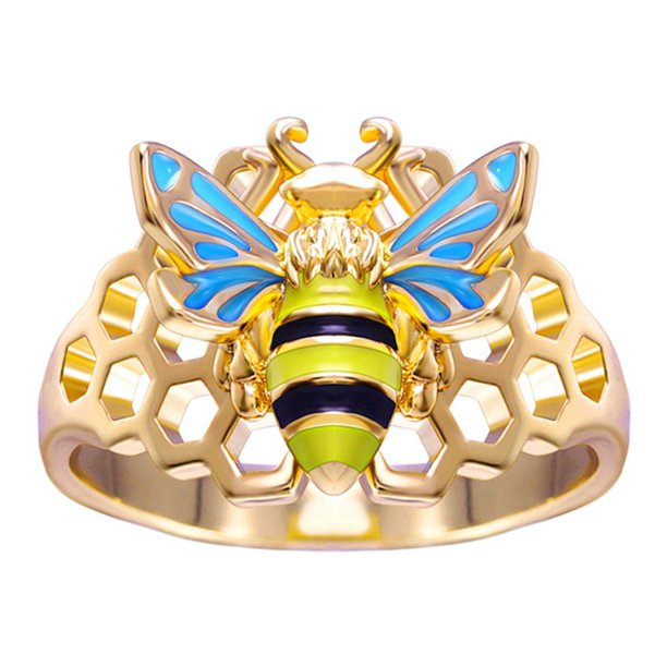 Fashion Cute Insect Busy Bee Rings