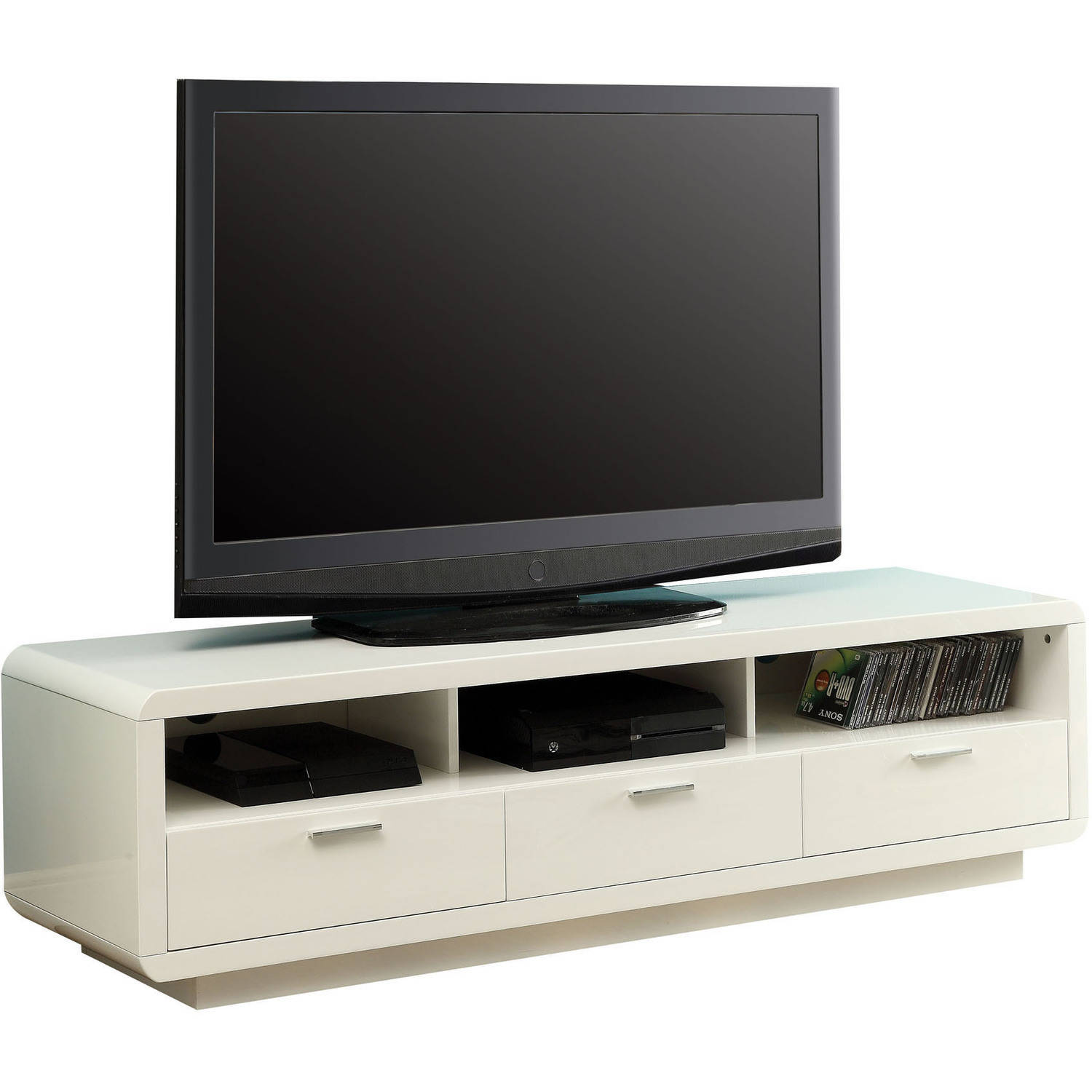 "ACME Randell TV Stand for Flat Screens TVs up to 60"", White"