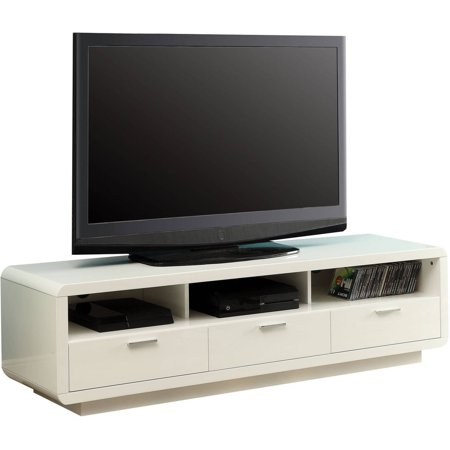 ACME Randell White TV Stand for Flat Screen TVs up to 60″