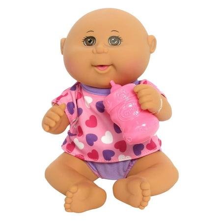 White Cabbage - Cabbage Patch Kids Drink N' Wet Newborn Baby Doll (Pink Hearts)