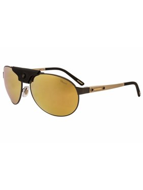 181edb9fea Product Image Chopard Sunglasses SCH932 K10G Gunmetal-Gold-Black  Leather Gold Mirror Polarized