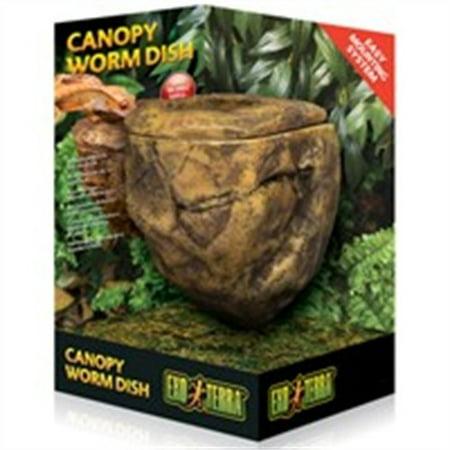 Reptile Dish (Exo Terra Canopy Worm Dish for Reptile)