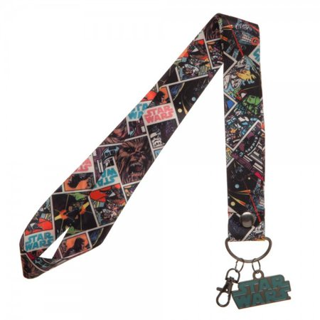 Lanyard - Star Wars - Wide /w Metal Charm New Licensed la5ayastw