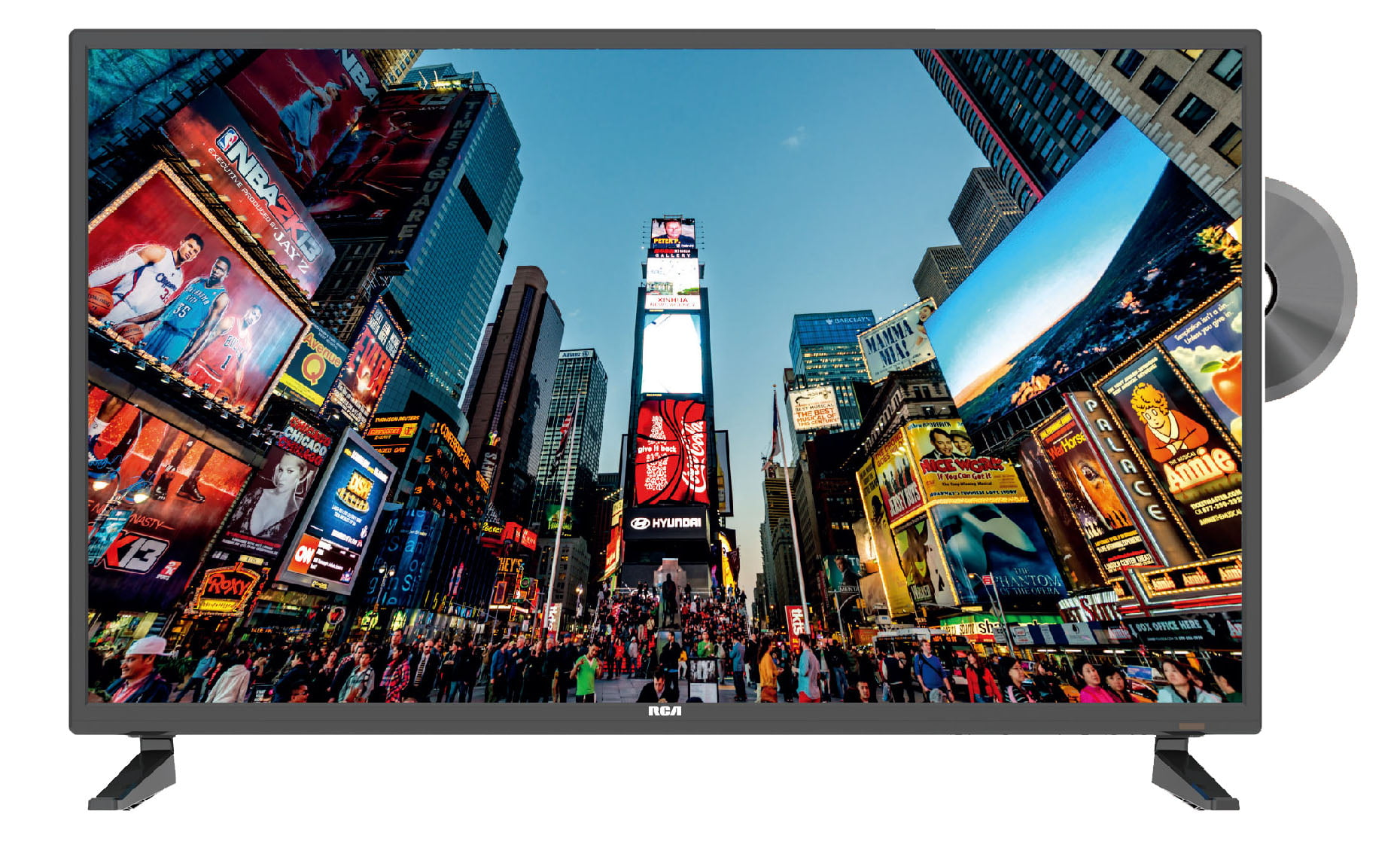 Rca 32 Cl Hd 720p Led Tv With Built In Dvd Player Rldedv3255 A