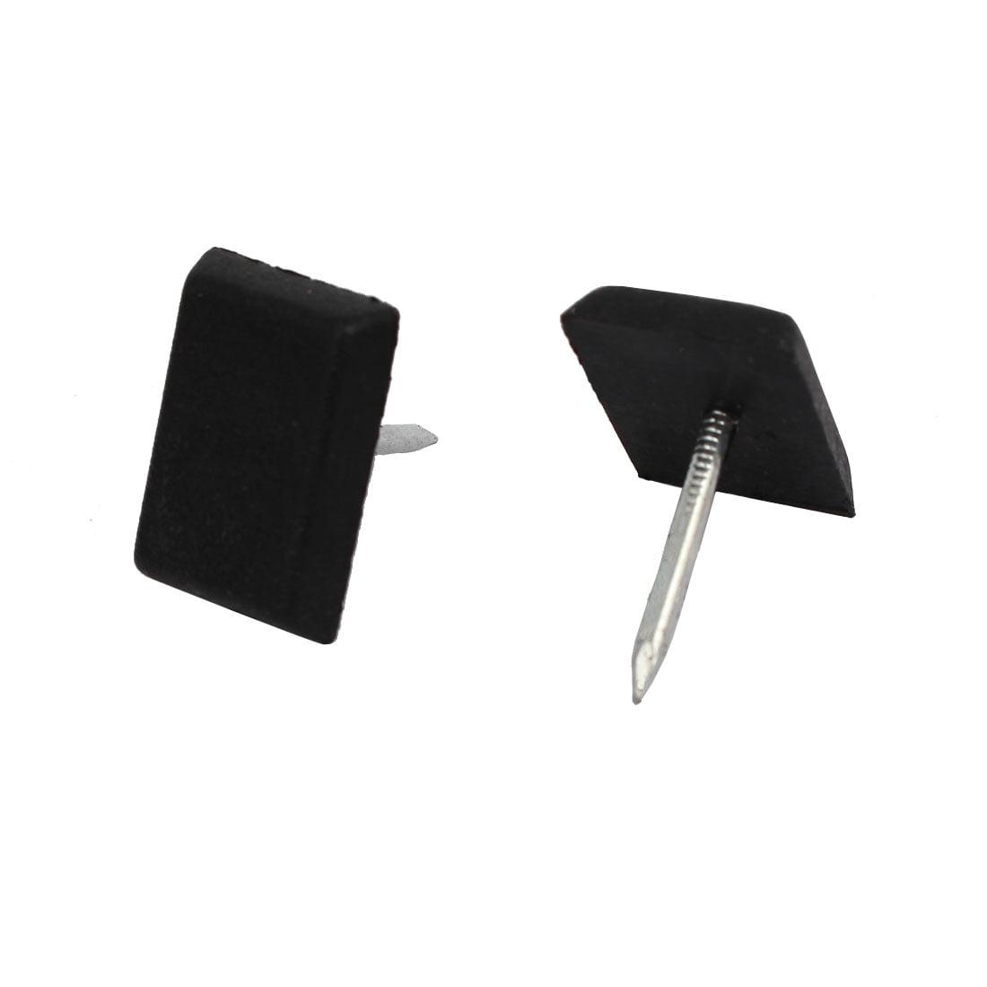 Unique BargainsWood Furniture Leg Foot Floor Protector Pad Glide Nails Black 18mm x 12mm 30PCS - image 1 of 3