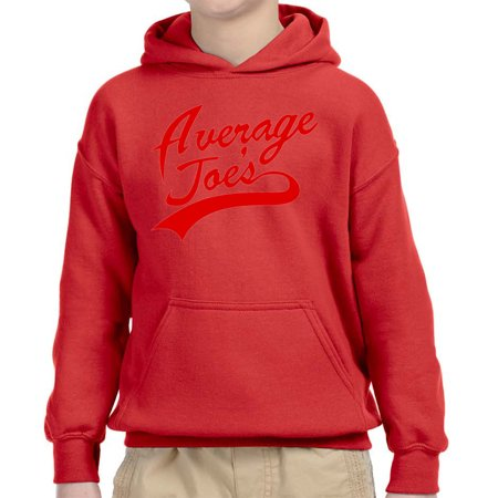 Trendy USA 811 - Youth Hoodie Average Joe's Dodgeball True Underdog Costume  Unisex Pullover Sweatshirt Medium Red