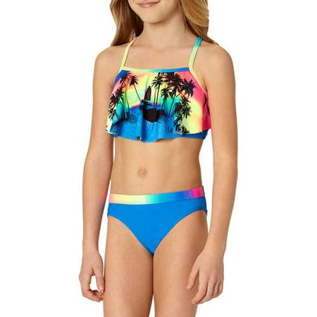 7486953e1f OP - Girls' Beach Front Bikini Swimsuit - Walmart.com