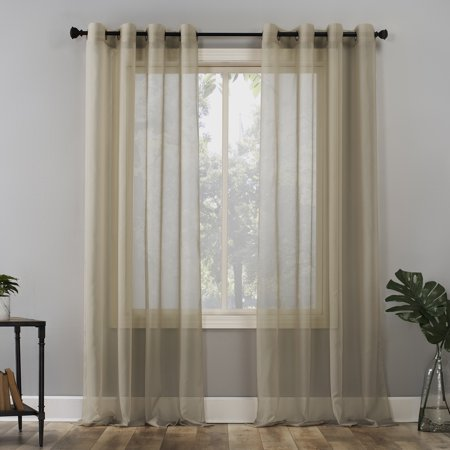 No. 918 Emily Voile Sheer Grommet Curtain Panel ()