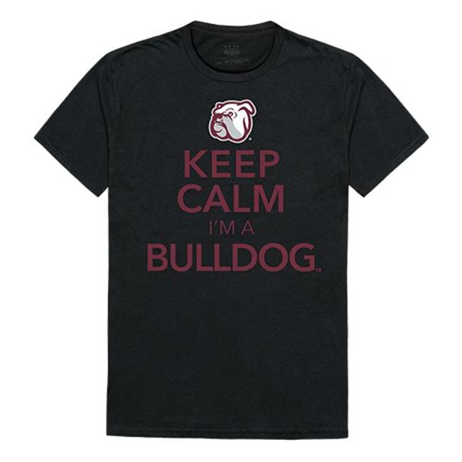 W Republic Apparel 523-133-E27-05 Mississippi State Keep Calm Mens Tee, Black - 2XL