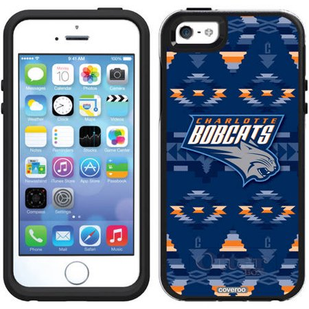 Charlotte Bobcats Tribal Print Design on OtterBox Symmetry Series Case for Apple iPhone 5 5s by