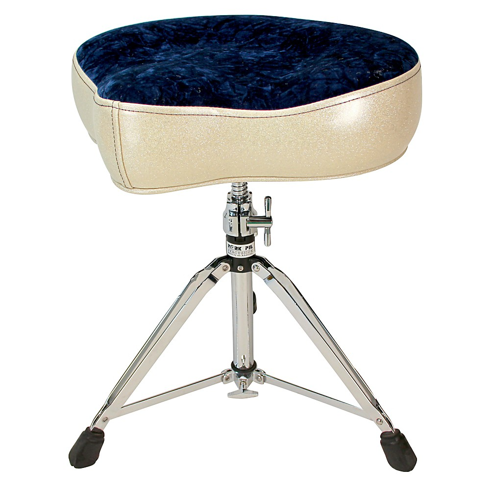 Pork Pie Big Boy Bicycle Throne Silver Sparkle with Navy Crush Top