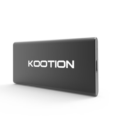 KOOTION 500G Portable External SSD Read/Write Speed up to 556MB/s & 510MB/s High Speed Transfer USB 3.1 USB-C Drive Ultra-Slim Mobile Solid State Drive for Laptop, Tablet, PC and Android Phone, Black