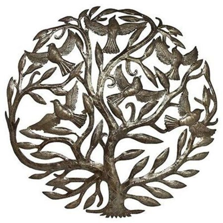 Steel Drum Art Tree Of Life, 24 in.