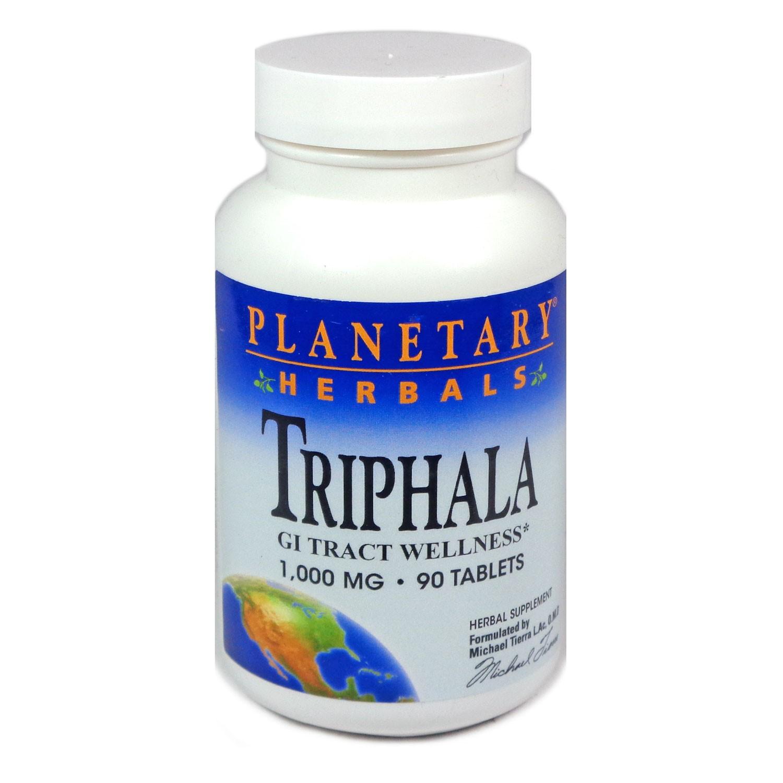 Planetary Herbals Triphala 1000 mg Tablets, 90 Ct