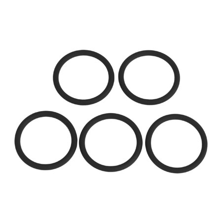 5pcs AS568A Black FKM75 Rubber O-Ring Washer Sealing Gasket for Car 21.89x2.62mm - image 5 of 5