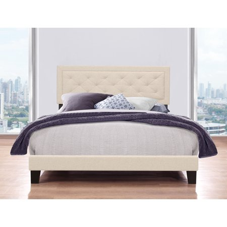 Hillsdale Furniture La Croix Platform Bed, Tufted Headboard, Multiple Sizes and Multiple Colors - Hillsdale Brass Bed
