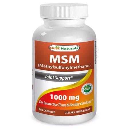 Best Naturals Msm 1000 Mg 180 Capsules Walmart Com