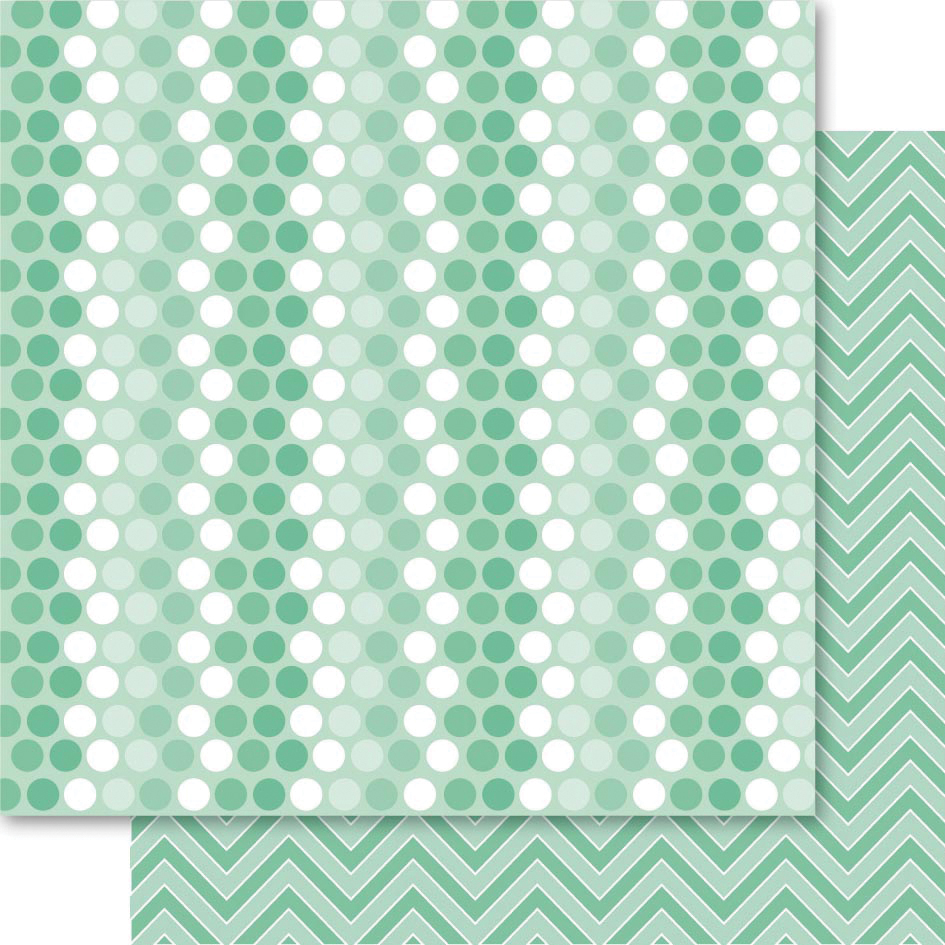 "Fusion Double-Sided Cardstock 12""X12""-Green Spotti"