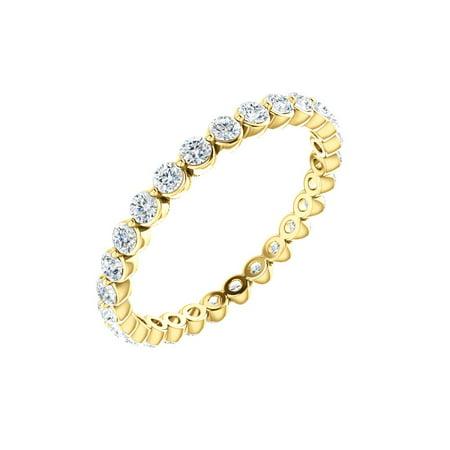 14k Yellow Gold 7/8 Ct Diamond Anniversary Wedding Eternity Band - Size 7.5