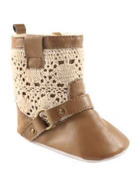 Newborn Baby Girls Crochet Lace Boot