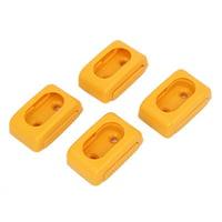 Household Closet Wardrobe Plastic Rod End Support Bracket Holder Yellow 4pcs