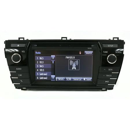 "2014-16 Toyota Corolla AM FM 6.1"" Display Radio mp3 Single CD 86140-02050 100149 - Refurbished"