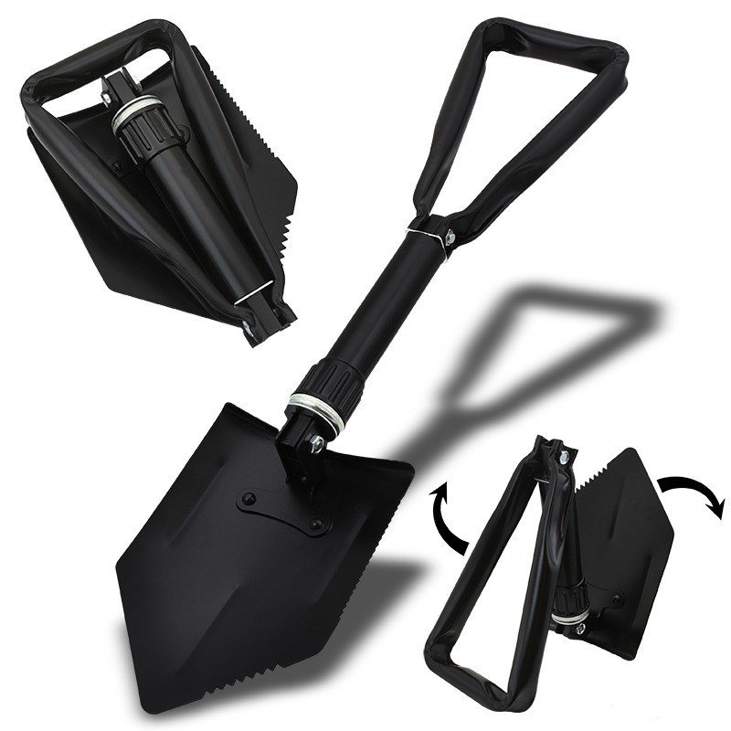 "STKUSA 24"" Folding Shovel Camping Hiking Shovel Belt Pouch by"